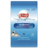 """Влажные гигиенические салфетки """"Cliny"""" для собак и кошек"""