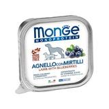 Monge Dog Monoprotein Fruits консервы для собак паштет из ягненка с черникой 150г