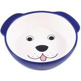 КерамикАрт миска керамическая для собак 180 мл Мордочка собаки синяя