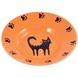 КерамикАрт миска керамическая-блюдце для кошек 140 мл оранжевая