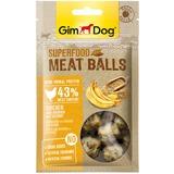 """GimDog дополнительный корм (лакомство) из курицы с бананом и кунжутом для собак - """"мясные шарики суперфуд"""" 70 г"""