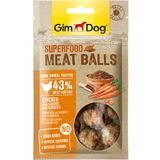 """GimDog дополнительный корм (лакомство) из курицы с морковью и семенами льна для собак - """"мясные шарики суперфуд"""" 70 г"""
