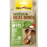 """GimDog дополнительный корм (лакомство) из курицы с яблоком и капустой для собак - """"мясные косточки суперфуд""""70 г"""