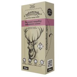 Venison вяленый пищевод северного оленя лакомство для ВСЕХ пород собак 45 гр