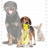 """Tuffy супер прочная игрушка для собак """"Обитатели океана"""" Кальмар, малая, желтый, прочность 8/10, Ocean Creature Jr Squid Yellow"""