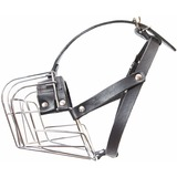 JULIUS-K9 металлический намордник для собак c укороченной мордой Middle (36х9,5х9,5см), ротвейлер средний