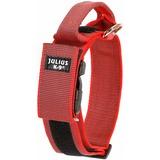 JULIUS-K9 ошейник для собак Color & Gray, с закрытой ручкой, красно-серый