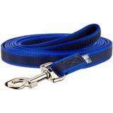 JULIUS-K9 прорезиненный поводок Color & Gray Super-grip для собак до 50 кг, сине-серый