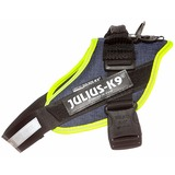 JULIUS-K9 шлейка для собак IDC®-Powerharness, цвет джинса-зеленый неон